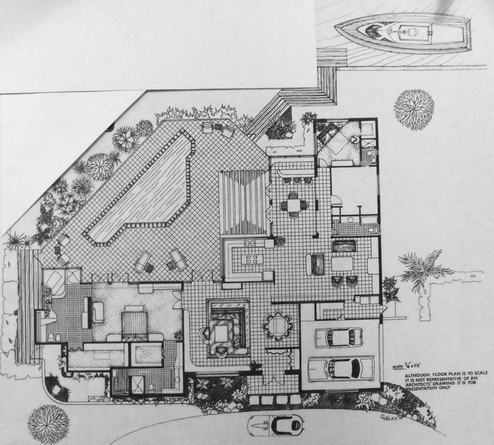 Interior Design Space Plan Pen And Ink Rendering