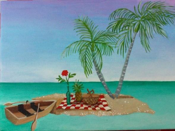Island Picnic by Christine Velez Stone