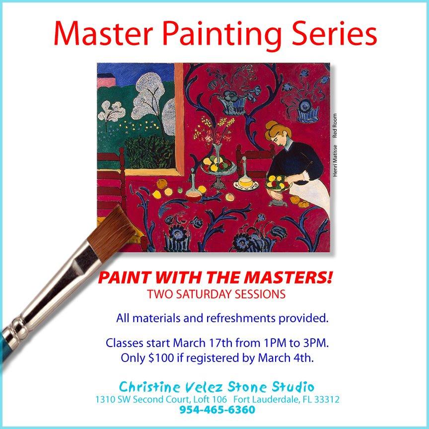 Master Painting Series by Christine Velez Stone