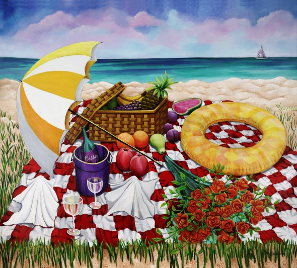 Fruitful Delights acrylic painting by Christine Velez Stone