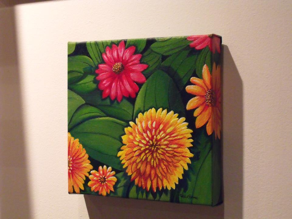 Colorful Flowers Painting Colorful Flowers Acrylic