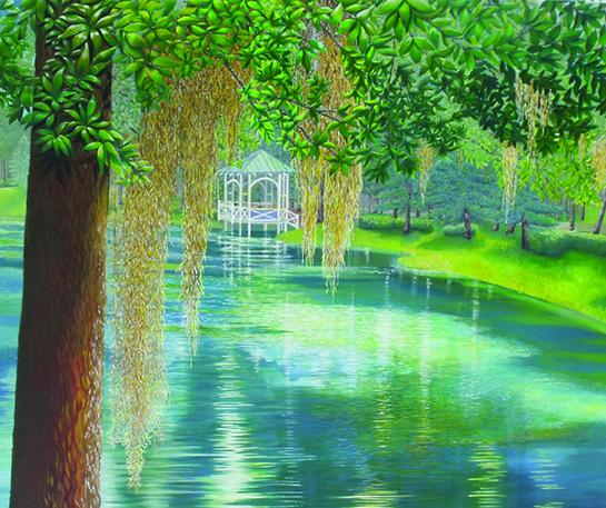 Solace acrylic painting by Christine Velez Stone