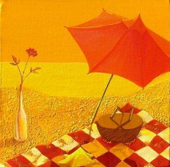 Sun Shiny Day, acrylic painting, by Christine Velez Stone